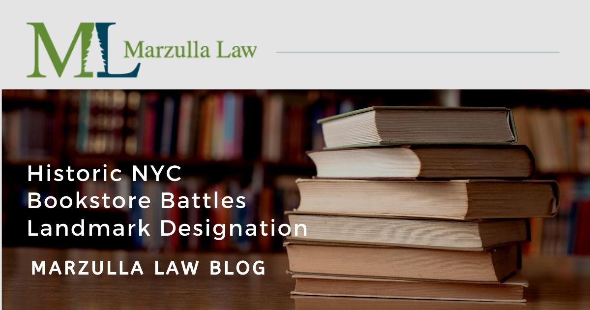Graphic image of books - marzulla blog about nyc takings case