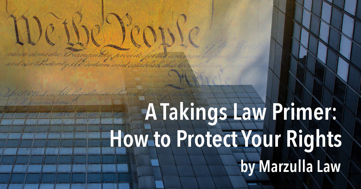 takings law explained by marzulla graphic header