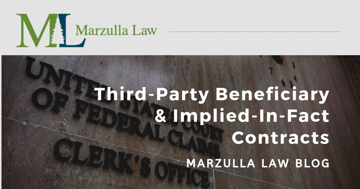 blog post graphic - third-party beneficiaries and implied in fact contracts