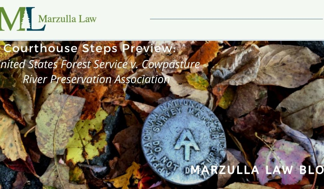 Courthouse Steps Preview: United States Forest Service v. Cowpasture River Preservation Association