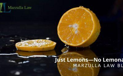 Just Lemons—No Lemonade