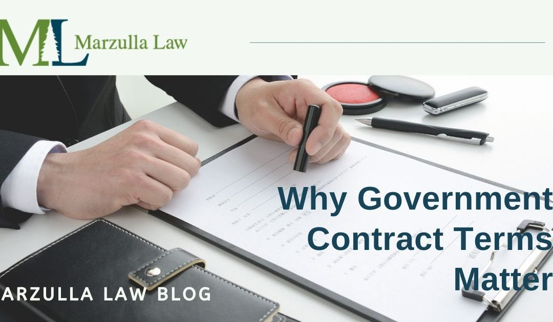 Why Government Contract Terms Matter