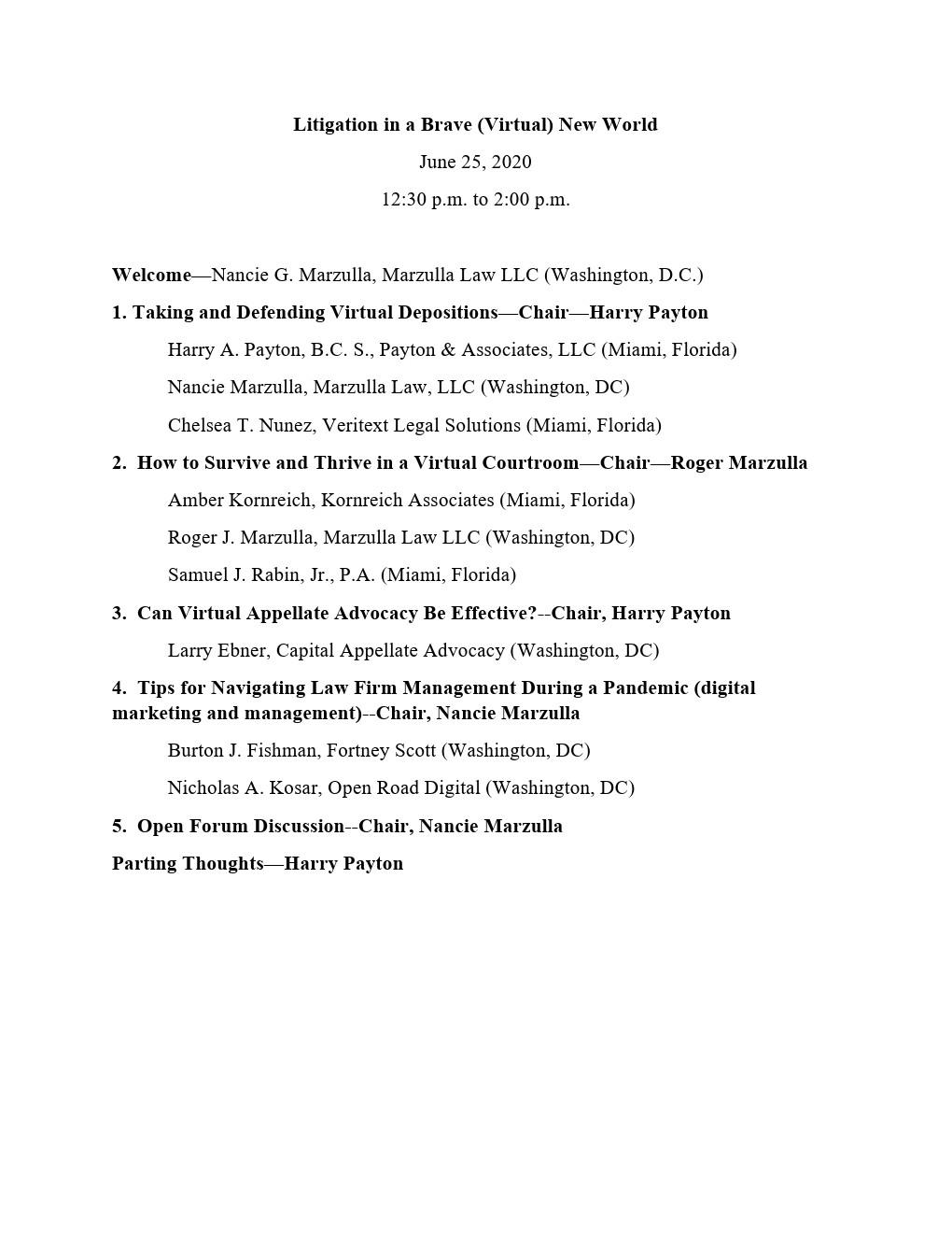 Webinar-agenda