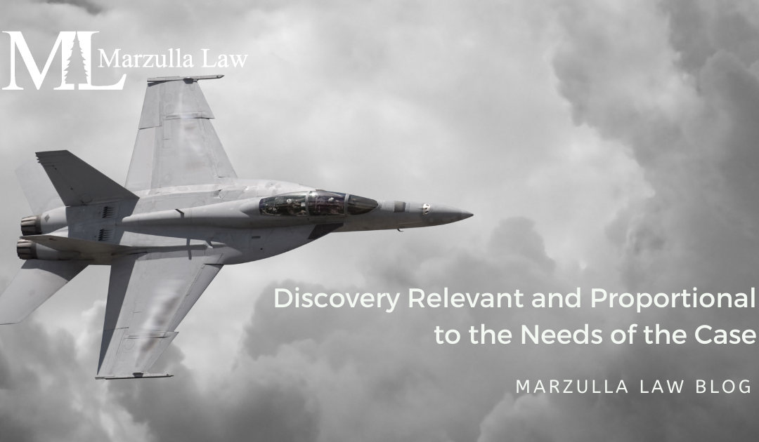 Discovery Relevant and Proportional to the Needs of the Case