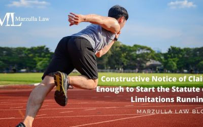 Constructive Notice of Claim Enough to Start the Statute of Limitations Running