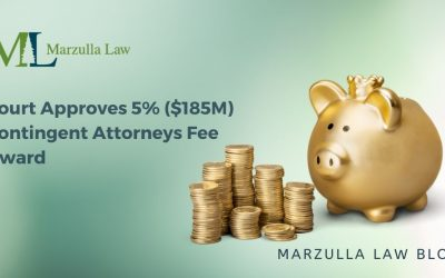 Court Approves 5% ($185M)  Contingent Attorneys Fee Award