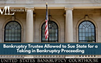 Bankruptcy Trustee Allowed to Sue State for a Taking in Bankruptcy Proceeding