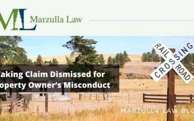 Taking Claim Dismissed for Property Owner's Misconduct